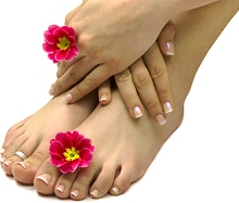 Spa Manicures and Pedicures available at Styles of Elegance